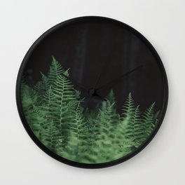 Wild Ferns Wall Clock