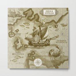 Insula Antillia Metal Print