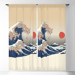 The Great Wave of Chihuahua Blackout Curtain