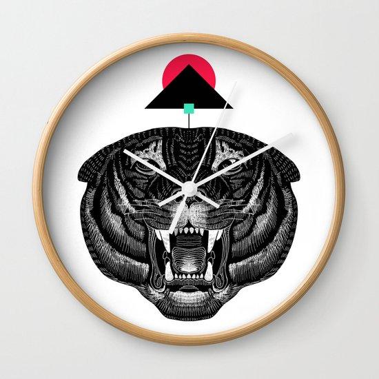 Roar My *--Tiger--* Wall Clock