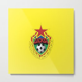Cska Football old  badge. For soccer lovers. Sports collection. Metal Print