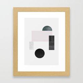 Black ball Framed Art Print