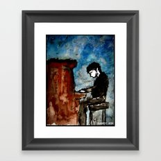 There is Poetry in the Way He Plays Framed Art Print