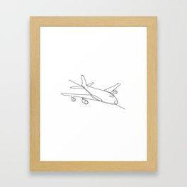 Jumbo Jet Plane Airliner Continuous Line Framed Art Print