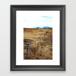Icelandic View Framed Art Print