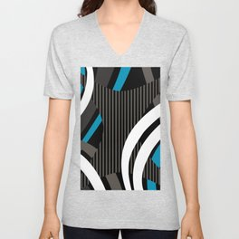 Wired Blue Unisex V-Neck
