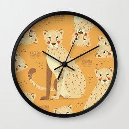 Cheetah, African Wildlife Wall Clock