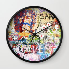 Peace on Earth - Love - Because the World is Round it Turns me On Wall Clock