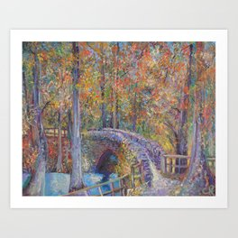 Colorado Springs Stone Bridge Art Print