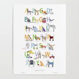 Dogwood Street ABC Alphabet Poster