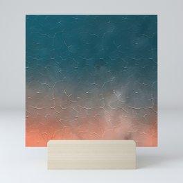 Modern  Textured  Atlantic Blue Abstract Mini Art Print