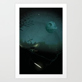 Prelude to Galactic Confrontation Art Print