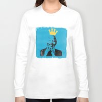 mandela Long Sleeve T-shirts featuring King Mandela by César Ovalle