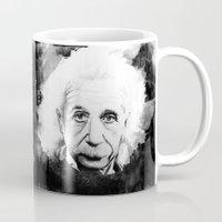 einstein Mugs featuring Einstein by Gabriel Saint