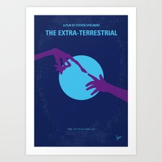 No282 My ET minimal movie poster Art Print