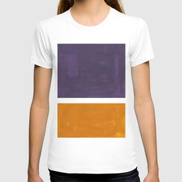 Purple Yellow Ochre Rothko Minimalist Mid Century Abstract Color Field Squares T-shirt