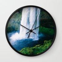 waterfall Wall Clocks featuring Waterfall by StayWild