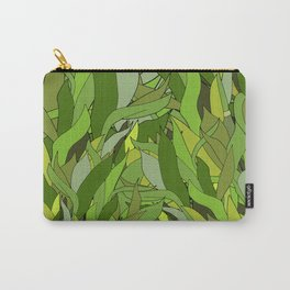 Green Bamboo Leaves Carry-All Pouch