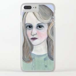 Colossus of Plath, Sylvia Plath Literary Portrait Clear iPhone Case