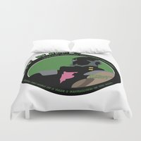 bebop Duvet Covers featuring Bebop Jet by AngoldArts