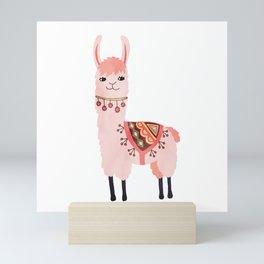 Cute Lama Sticker Mini Art Print