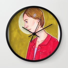 Girl under the Moon Wall Clock