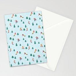 Snowboarding Girls Stationery Cards
