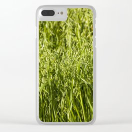 green oats Clear iPhone Case