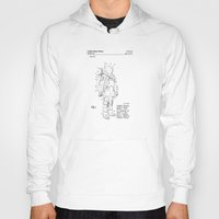 nasa Hoodies featuring NASA Space Suit Patent  by Elegant Chaos Gallery