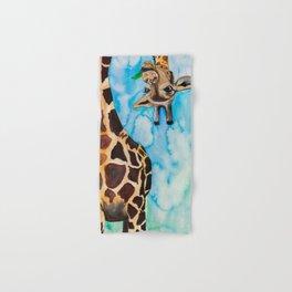 friendly giraffe Hand & Bath Towel