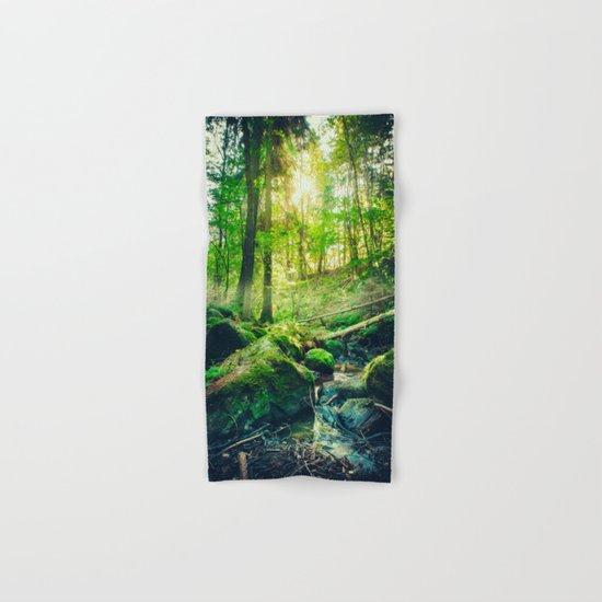 Down the dark ravine II Hand & Bath Towel