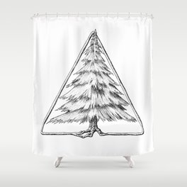 Tree in Triangle Shower Curtain