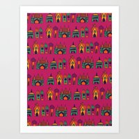 india Art Prints featuring India by cactus studio