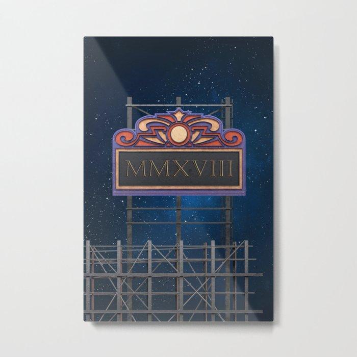 Cinema Board 2018 – Notebooks & more Metal Print
