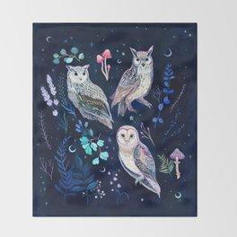 Night Owls Throw Blanket