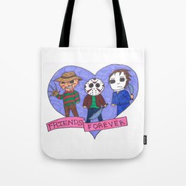 Friends Forever Horror Tote Bag