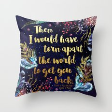 ACOMAF - Torn Apart The World Throw Pillow