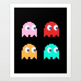 Pacman Ghosts Art Print