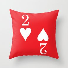 Two Of Hearts Graphic Throw Pillow