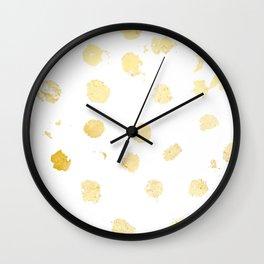 Foil Spots Wall Clock