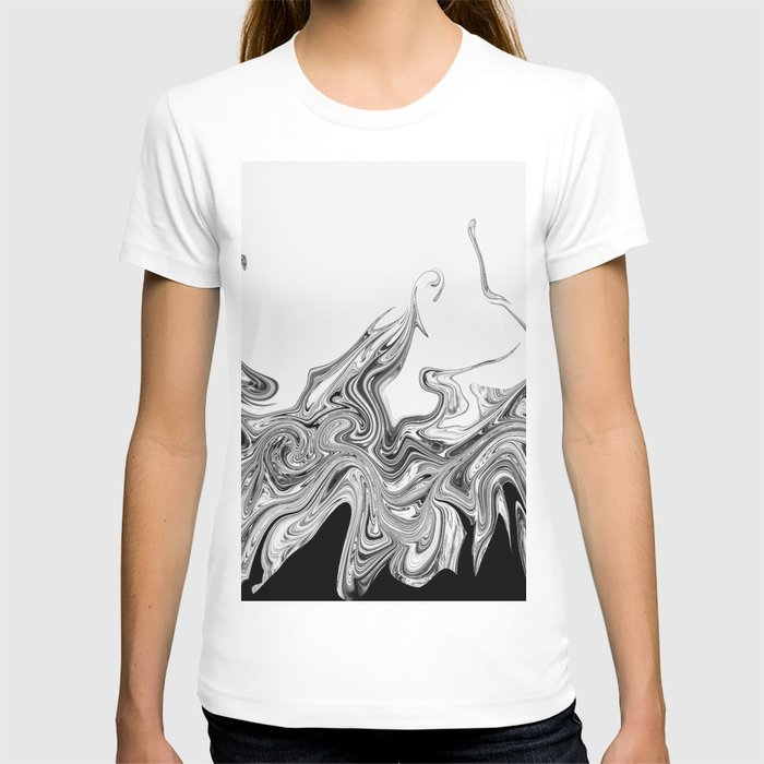 Modern contemporary Black and White Abstract T-shirt