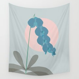 Teal Orchid Dreams Wall Tapestry