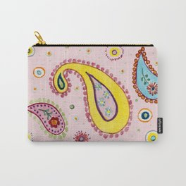 Pink Paisley  - Motifs Cachemire Rose Carry-All Pouch