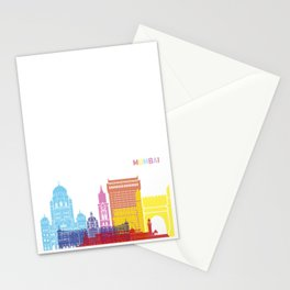 Mumbai skyline pop Stationery Cards