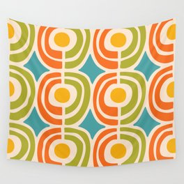 Mid Century Modern Solar Flares Pattern 2 Wall Tapestry