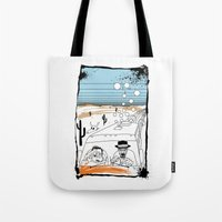 fear and loathing Tote Bags featuring Fear and Loathing in Albuquerque II by Evan