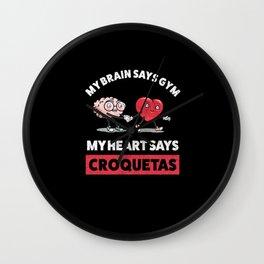 Cuban Croquetas Lovers design Wall Clock