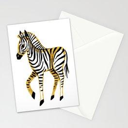 Gold Zebra Stationery Cards