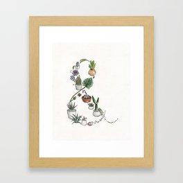 Succulent Ampersand Framed Art Print