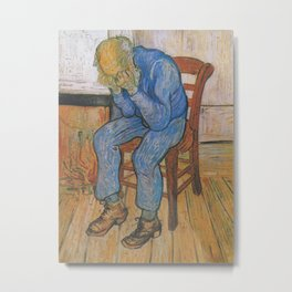 Vincent van Gogh - Sorrowing Old Man (At Eternity's Gate) Metal Print